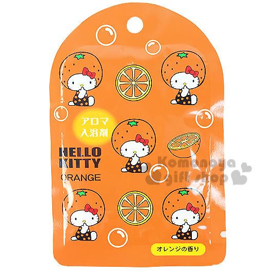 〔小禮堂〕Hello Kitty 日製入浴劑《橘.橘子》橘子香味 4901610-85188