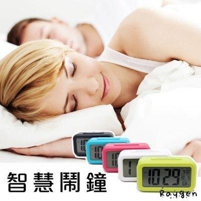 創意靜音電子 智慧鬧鐘 多功能 夜光 貪睡 溫度 功能