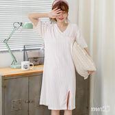 睡裙睡衣夏女士棉質短袖夏季睡裙寬鬆中長款裙子薄款女可外穿睡衣TA10273【Sweet家居】
