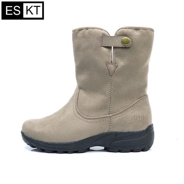 ESKT 女短筒雪鞋SN235 / 城市綠洲 (雪靴、防潑水、刷毛、冰爪)