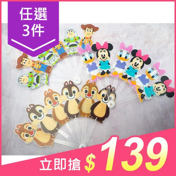【任選3件$139】Disney 迪士尼 公仔造型扇子(1入) 7款可選【小三美日】
