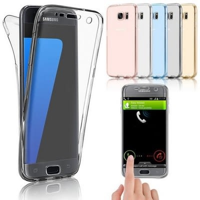 【SZ24】三星s8 plus手機殼 360度前後全包 s6 S7 edge透明超薄tpu觸屏軟套 s9 plus 手機殼