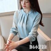 時尚雪紡襯衫女裝2020年新款潮流洋氣長袖上衣氣質打底衫 LF569【甜心小妮童裝】