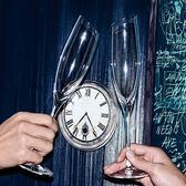 全館83折 香檳杯小奢華2個家用水晶玻璃酒杯個性禮物斜口歐式高腳杯