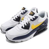 Nike 復古慢跑鞋 Air Max 90 Essential 藍 白 黃 氣墊 休閒鞋 男鞋【PUMP306】 AJ1285-101