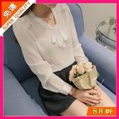 季韓版雪紡衫短袖襯衫女時尚襯衣休閒女裝上衣 降價兩天