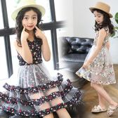 女童夏裝2018新款兒童裝公主裙韓版中大童夏季小女孩裙子 DN6980【Pink中大尺碼】