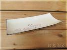 ~佐和陶瓷餐具~【82GA006-12 12吋長方尖角盤(白梅)】/ 開店 餐廳 壽司盤 日式料理 /