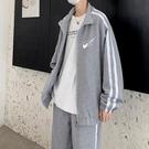 休閒套裝男士港風寬鬆潮流開衫套裝學生運動服