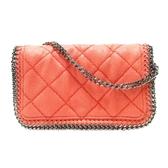 SELECTION STELLA MCCARTNEY 粉紅色麂皮菱格紋鏈條斜背包 【二手名牌 BRAND OFF】