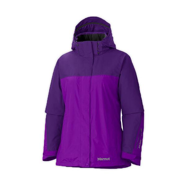 [Marmot] Palisades FL GTX (女) 二件式外套 紫/深紫 S (M35720-6660S)