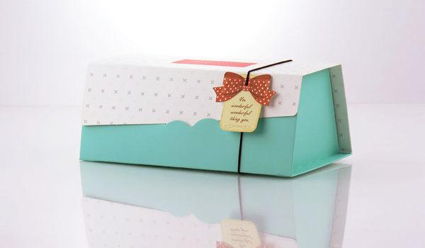 藍色 19cm 奶凍捲蛋糕盒 伴手禮盒 蛋糕捲盒 紙盒 包裝盒 彌月禮盒