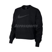 Nike 長袖T恤 Dri-FIT Get Fit Fleece Sparkle Training Top 黑 銀 女款 運動休閒 【ACS】 CU9015-010