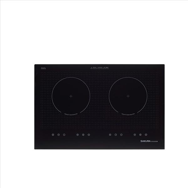 (含標準安裝)櫻花【EG-2320GB】雙口220V感應盧IH爐