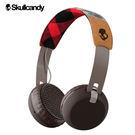 《Skullcandy》GRIND葛萊 大耳罩式藍芽耳機--紅格/麂皮
