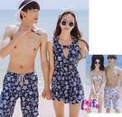 來福,A101情侶泳衣鄉間小路三件式泳衣情侶泳衣游泳衣泳裝比基尼,單女生售價1100元