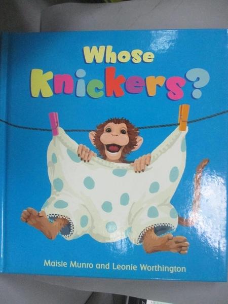 【書寶二手書T2/少年童書_EAC】Whose Knickers?_Maisie Munro