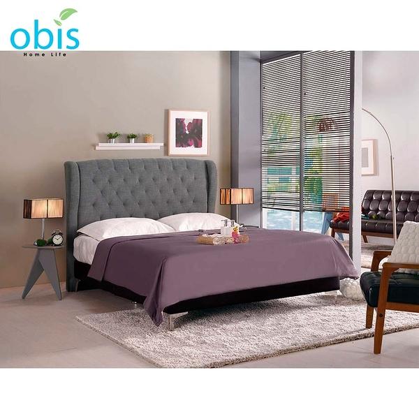 OB003-多娜達6尺雙人床(灰色布)(19CM/655-1)【DD House】