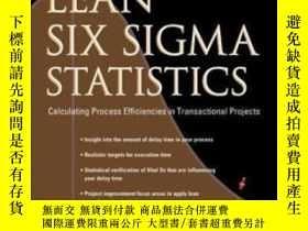 二手書博民逛書店Lean罕見Six Sigma StatisticsY364682 Alastair Muir Mcgraw-