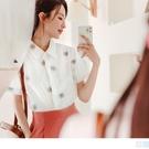 《AB15125》高含棉夏日小花刺繡襯衫/上衣 OrangeBear