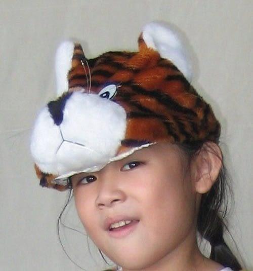 萬聖節聖誕節化妝舞會角色扮演動物造型衣動物裝動物帽服裝道具--小老虎