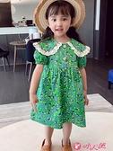 女童短袖洋裝 女童短袖碎花公主裙2021新款夏季裙子兒童洋氣網紅爆款連身裙夏裝 小天使 99免運
