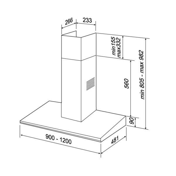 抽油煙機 K181(90公分) 適用 靠壁式廚房 / 貝斯特 best 義大利進口 環保排油煙機
