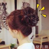 逼真假髮髮圈橡皮筋髮包盤髮拉花小丸子花苞女頭花蓬鬆捲髮大髮圈  至簡元素