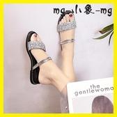 MG 外穿拖鞋-兩穿涼拖鞋時尚外穿百搭平底外出涼鞋