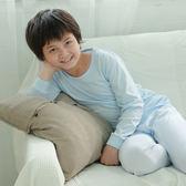 【Anny pepe】男童長袖基本款素面水藍(S&M)
