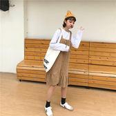 背帶裙荷葉邊學生女韓版日系魚尾學院風復古文藝bf裙子洋裝【端午節免運限時八折】