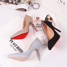 水晶婚鞋法式少女高跟鞋女