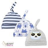 新生兒帽子 初生嬰兒啾啾胎帽 三件組 恐龍世界 (嬰幼兒/寶寶/兒童/小孩/小朋友)