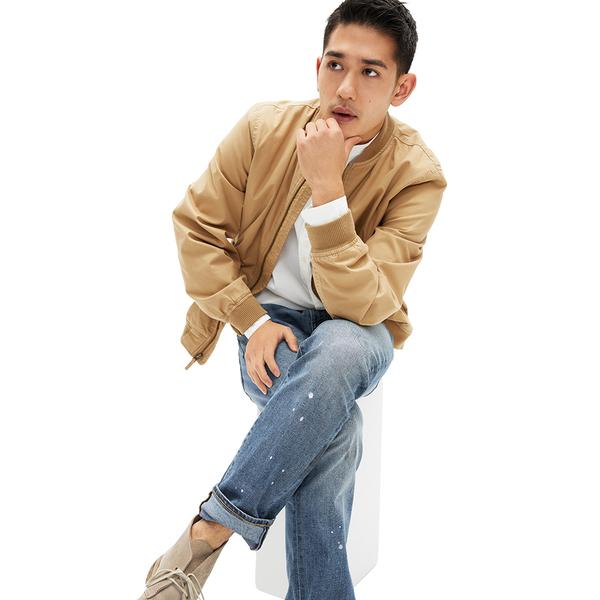Gap男裝時尚水洗五口袋牛仔褲539086-深色水洗做舊