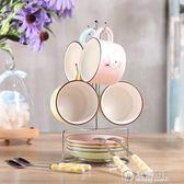 歐式9件套咖啡杯套裝家用陶瓷水杯子萌萌可愛小孩馬克杯 電購3C