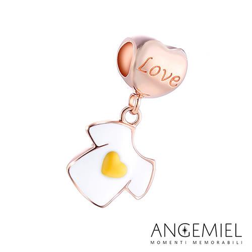 Angemiel安婕米 925純銀珠飾  Dream童話系列 愛心T恤 吊飾