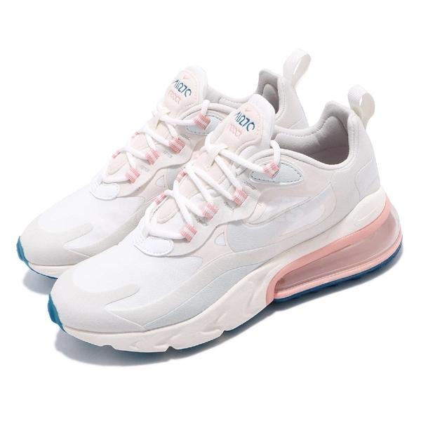 Nike 慢跑鞋 Wmns Air Max 270 React Summit White 米白 粉紅 女鞋 氣墊 【PUMP306】 AT6174-100