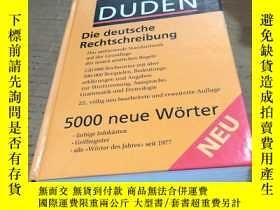 二手書博民逛書店DUDEN Die罕見deutsche Rechtschreib