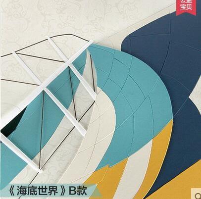簡約現代皮畫浮雕畫 立體裝飾畫 單幅餐廳臥室床頭掛畫GH-P