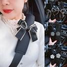 汽車安全帶護肩套透氣舒適四季山茶花車載車內飾保險帶保護套裝飾