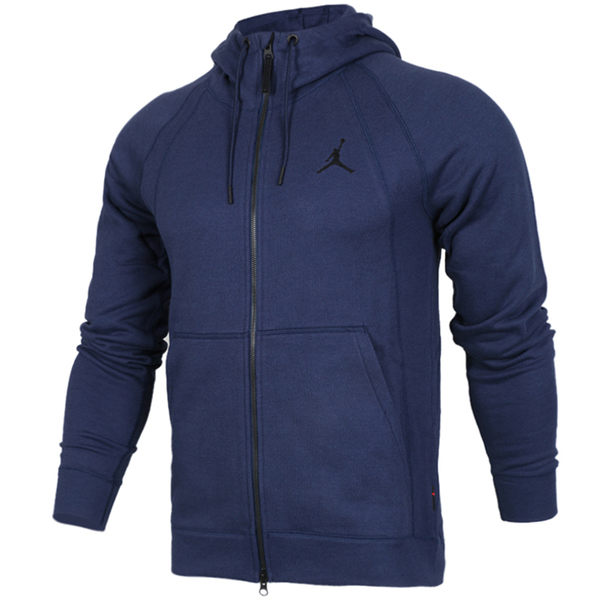 Nike Jordan 深藍 黑Logo 內刷毛 連帽外套 (布魯克林) 2017/11月 860197-410 外套