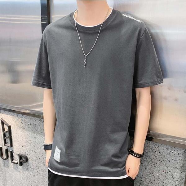 【精選新品任搭2件$499】純棉短袖T恤簡約設計款男款時尚T恤
