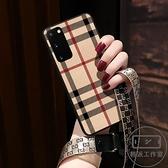 三星S20手機殼S20 手機殼真皮5G保護套Note20全包鏡手機殼【輕派工作室】