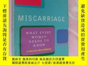 二手書博民逛書店Miscarriage:What罕見Every Woman ne