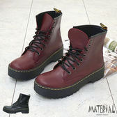 短靴 個性綁帶厚底短靴 MA女鞋 T9214