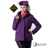 Jordon 女 GORE-TEX │防水│防風│透氣│羽絨│鵝絨 兩件式保暖外套 1112『深紫』