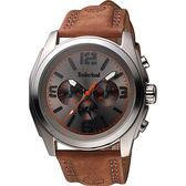 Timberland Houston 時空潮流日曆腕錶-灰x咖啡/47mm TBL.14366JS/61