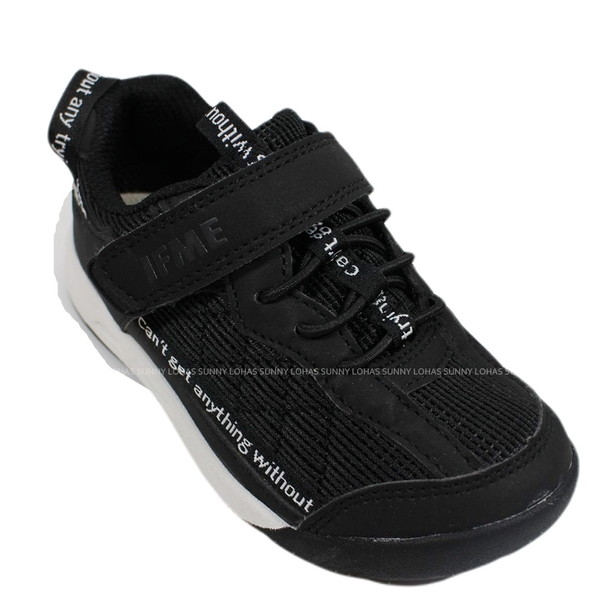 (BZ) IFME 童鞋 LIGHT 日本機能童鞋 運動鞋 超輕量 魔鬼氈 IF20-131401黑 [陽光樂活]