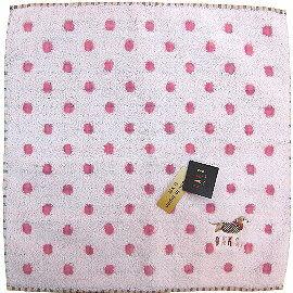 【波克貓哈日網】日系DAKS方巾毛巾◇ 28x28 cm◇《粉紅色圓點》