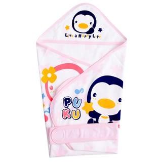 『121婦嬰用品館』PUKU 春夏單層包巾-粉